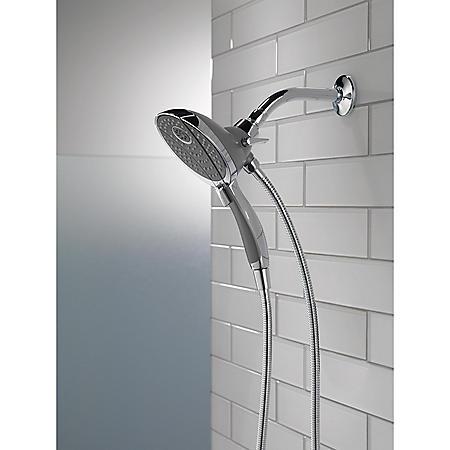 Delta Shower Heads With Hand Shower.Delta 5 Setting Hand Shower And Shower Head Combo Chrome Sam S Club