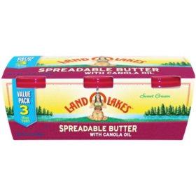 Land O'Lakes Spreadable Butter (15 oz., 3 pk.)