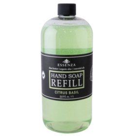ESSENZA Premium Hand Soap 33.8 oz Refill - Citrus Basil