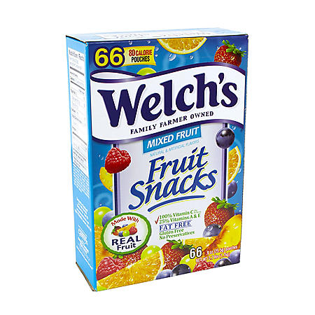 Welch's Mixed Fruit Snacks (0.9 oz., 66 pk.)