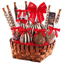 Mrs. Prindables Premium Festive Caramel Apple Basket