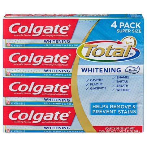 Colgate Total Whitening Toothpaste (7.8 oz., 4 pk.)