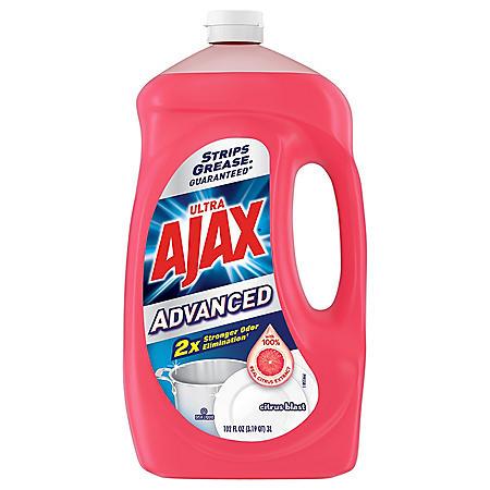 Ajax Advanced Citrus Blast Dishwashing Liquid (102oz.)