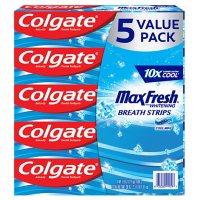 Colgate MaxFresh Toothpaste, Cool Mint (7.6 oz., 5 pk.)