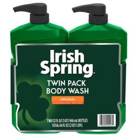 Irish Spring Body Wash  With Pump, Original (32 oz., 2 pk.)