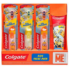 Colgate Kids Toothbrush Value Pack (Minions or Trolls)