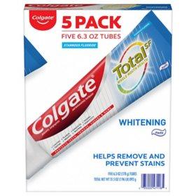 Colgate Total Whitening Toothpaste (6.3 oz., 5 pk.)