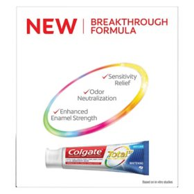 Colgate Total Whitening Toothpaste 6 3 Oz 5 Pk Sam S Club