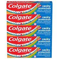 Colgate Kids Toothpaste Cavity Protection, Bubble Fruit Flavor (4.6 oz., 5 pk.)