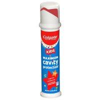 Colgate Kids' Toothpaste Pump, Maximum Cavity Protection, Bubble Fruit (4.4 oz.,  4 pk.)