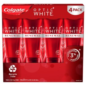 Colgate Optic White Renewal High Impact White Teeth Whitening Toothpaste (4.1 oz., 4 pk.)