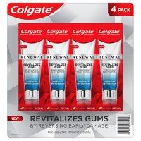 Colgate Renewal Gum Toothpaste, Whitening Restoration, Cool Mint Gel Formula (3.2 oz.,  4 pk.)