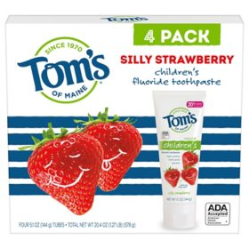 Tom's of Maine Silly Strawberry Anticavity Toothpaste (5.1 oz., 4 pk.)