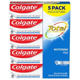 Colgate Total Whitening Gel Toothpaste (6 oz., 5 pk.)