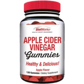 DietWorks Apple Cider Vinegar Gummies (120 ct.)