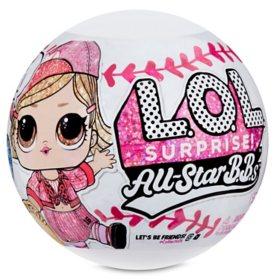 L.O.L. Surprise All-Star B.B.s Sports Series 3-Pack - Baseball Team Sparkly Dolls