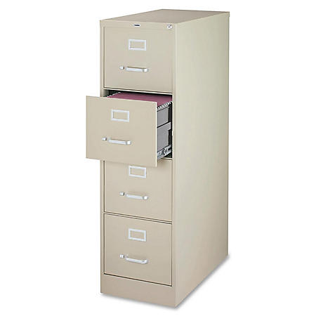 "Hirsh 4-Drawer 18"" x 26½"" Vertical File Cabinet, Select Color"