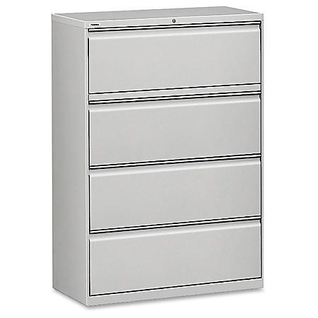 """Hirsh 36"""" x 52½"""" 4-Drawer Lateral File Cabinet, Select Color"""