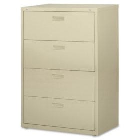 "Hirsh 30"" 4-Drawer Lateral File Cabinet, Select Color"
