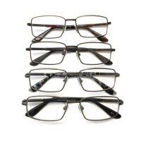 I.Image Men's Metal 4-Pack Reading Glasses, Select Power