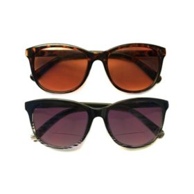 I.Image Women's Metal 2-Pack Sunglass Readers, Select Power
