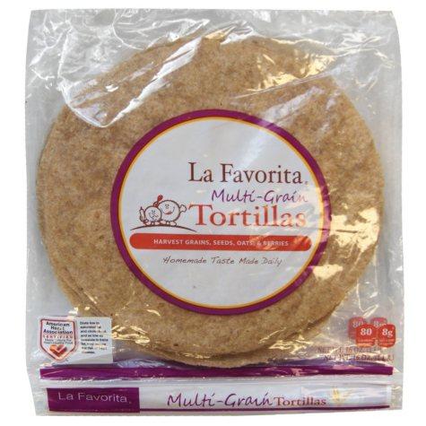 La Favorita Multi-Grain Whole Wheat Tortillas (10 ct., 2 pk.)