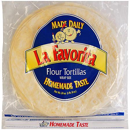 """La Favorita 10"""" Flour Tortillas (72 oz., 30 ct.)"""