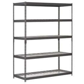 Muscle Rack 5-Level Heavy-Duty Steel Shelving Black