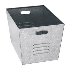 "Edsal 12""W x 11""D x 17""H Steel Galvanized Utility Bins, Set of 6"