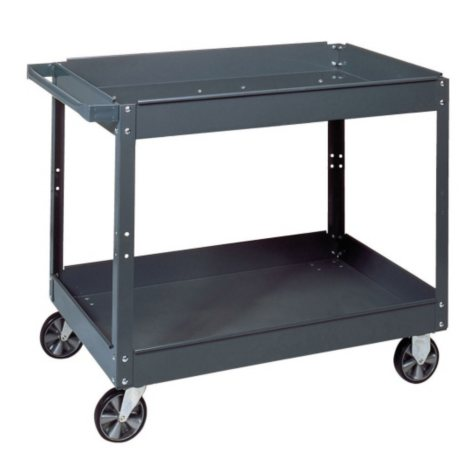 "Edsal Commercial Steel Service Cart - 24""W x 36""L x 32""H"