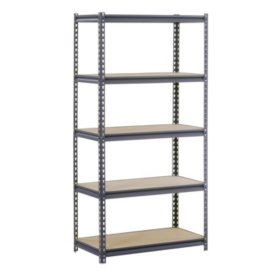 "Edsal Heavy Duty 16-gauge 5-Level Boltless Steel Shelving (36""W x 18""D x 72""H)"