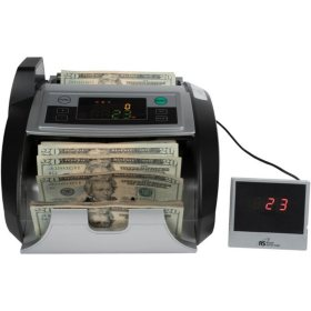 Royal Sovereign Bill Counter with Counterfeit Detection (1,000 bills per minute)