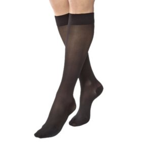 JOBST UltraSheer Compression Stockings, 8-15 mmHg, Classic Black (Choose Your Size)