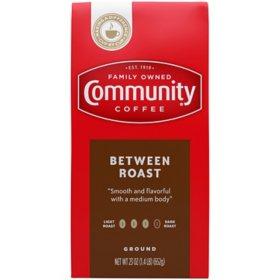 Community Coffee Ground Coffee Vacuum Sealed Pack, Between Roast (23 oz.)