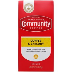 Community Coffee Ground Coffee Vacuum Sealed Pack, Coffee & Chicory (23 oz.)