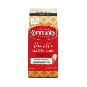 Community Coffee Ground Coffee, Vanilla Waffle Cone (32 oz.)