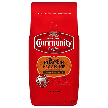 Community Coffee Ground Coffee, Spiced Pumpkin Pecan Pie (32 oz.)