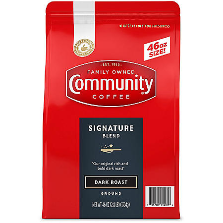 Community Coffee Ground Dark Roast, Signature Blend (46 oz.)