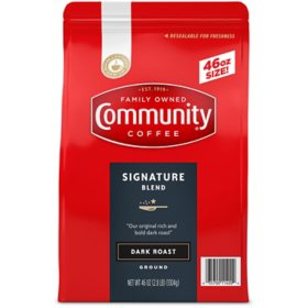 Community Coffee Ground Dark Roast, Signature Blend (46 oz.)