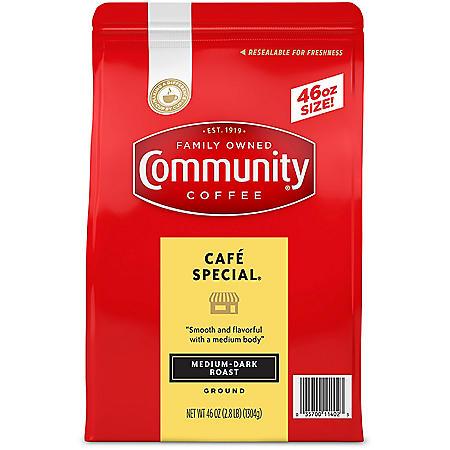 Community Coffee Ground, Cafe Special (46 oz.)