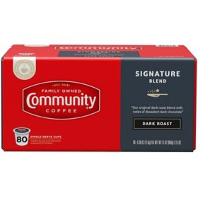 Community Coffee Single Serve Cups, Dark Roast (80 ct.)