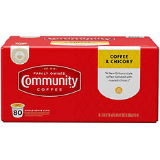 Community Coffee, Coffee & Chicory (80 K-Cups)