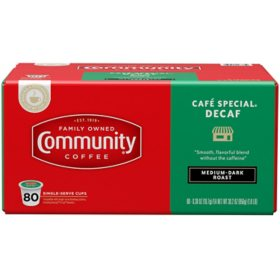 Community Coffee Café Special Decaf Single-Serve Pods (80 ct.)