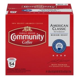 Community Coffee Single-Serve Pods, American Classic (54 ct.)