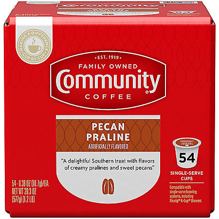 Community Coffee Single-Serve Pods, Pecan Praline (54 ct.)