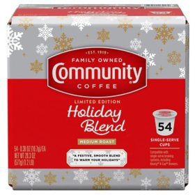 Community Coffee Single-Serve Cups, Holiday Blend (54 ct.)