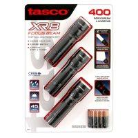 Tasco XR8 Focus Beam 400 Lumen Tactical LED Flashlight (3 Pack)