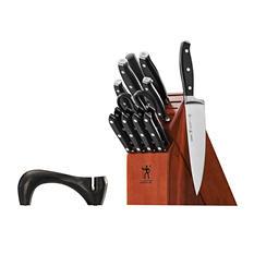 Henckels International Forged Premio 16 Pc Knife Block Set with Bonus Sharpener