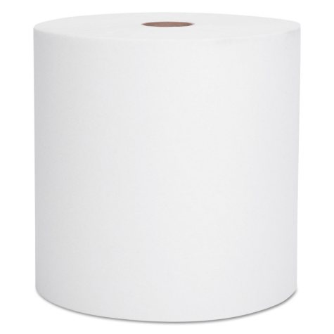 """Kimberly-Clark Professional - SCOTT Hardwound Roll Towels, 8"""" x 1000ft, Recycled, White -  6 Rolls/Carton"""