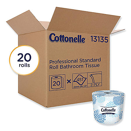 Cottonelle - Two-Ply Bathroom Tissue, 451 Sheets/Roll -  20 Rolls/Carton
